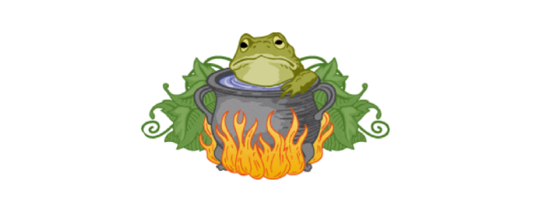 frog in hot water