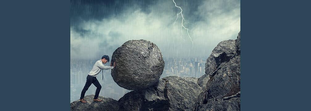 God asked man to Push a Rock