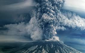 Mount Saint Helen Erupting